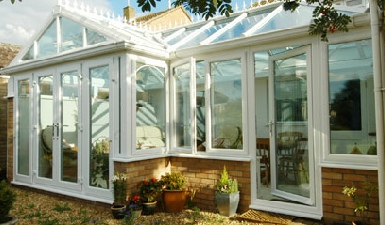 p shaped Style conservatory